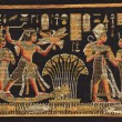 Ancient black egyptian papyrus — Stock Photo