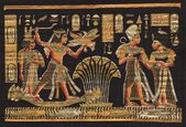 Ancient black egyptian papyrus — Foto de Stock