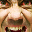 Ugly and furious zombie portrait.Vampire portrait.Horror vampire portrait. - Stock Photo