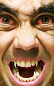 Ugly and furious zombie portrait.Vampire portrait.Horror vampire portrait. — Stock Photo
