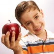 Apple kid. — Stock Photo
