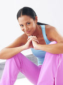 Fitness young woman portrait. — Stock Photo