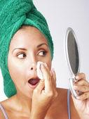 Young latin makeup woman. — 图库照片
