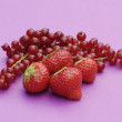 Composition of ripe  raspberries - Stock Photo