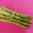 Stock Photo: Bundle of green asparagus