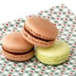 Stock Photo: Assorted macaroons cookies