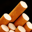 Extreme closeup of cigarettes detail - Stock Photo