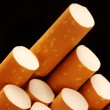 Extreme closeup of cigarettes detail — Stock Photo