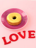 Love day dough nuts — Stock Photo