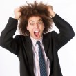 Particular style young man screaming. — Stock Photo #14108374