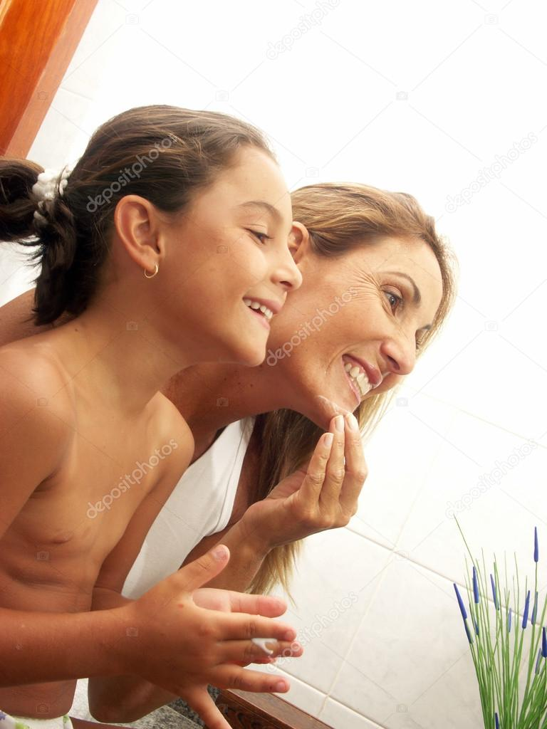 mother and daughter nudists of any age