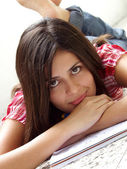 Teen portrait studding — Stock Photo