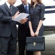 Business working at private jet. — Stock Photo #14627137
