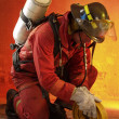 Firefighter in action. — Stock Photo #14910775