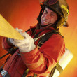Firefighter in action. — Stock Photo #14912189