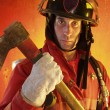 Firefighter in action. — Stock Photo #14912239