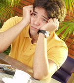 Worry young man — Stock Photo