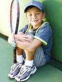 маленький портрет теннисные детские. — Стоковое фото