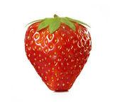 Söta jordgubbar på vit bakgrund. — Stockfoto