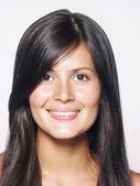Closeup portrait of young beautiful latin woman — Stock Photo