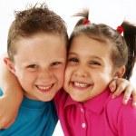 Happy little kids portrait — Stock Photo