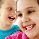 gelukkig weinig kinderen portret — Stockfoto