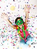 Carnaval petit portrait de jeune fille — Photo