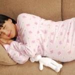 Pregnant woman sleeping — Stock Photo #18297475