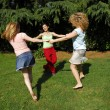 Outdoors female friends enjoying together. - Stok fotoğraf