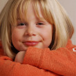 Little blonde girl portrait. — Stock Photo