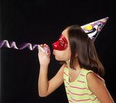 Carnival little girl portrait — Stock Photo