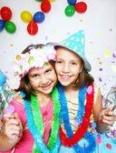 Funny carnival kids portrait — Stock Photo