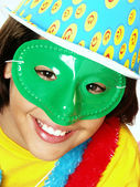 Happy carnival kid portrait. — Stock Photo