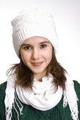Brunette girl in winter clothing — Stock Photo