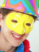 Gelukkig carnaval kind portret — Stockfoto