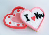 San Valentin love cupcakes biscuit. — Stock Photo