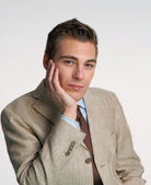 Optimistic young businessman portrait. — Stock Photo