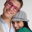 Royalty-Free Stock Photo: Happy young couple in casual style