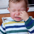 Little baby crying - Stock Photo
