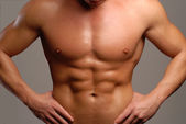 Shaped man abdominal muscle. — Stock Photo
