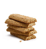 Granola Bars on white background.Fiber crackers. — Stock Photo