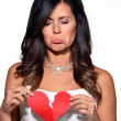 Sad woman broken heart — Foto Stock
