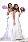Happy bride friends — Stock Photo