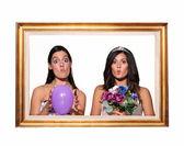 Surprised brides — Stock Photo