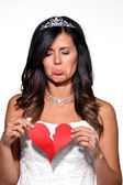 Sad woman broken heart — Stock Photo
