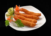 Fried fish spring rolls — Photo