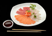 Nigiri salmon and tuna — Stock Photo