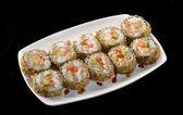 Bir yemek suşi rulo — Stok fotoğraf