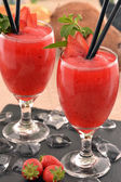 Strawberry daiquiri cocktail drink — 图库照片