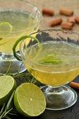 Lemon ingredient cocktail drinks — Stock Photo